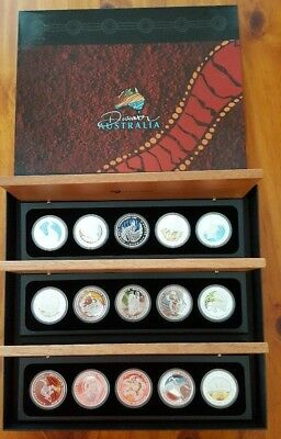 2009, 2010 & 2011 Discover Australia 1oz Silver Proof Coins The Dreaming Series