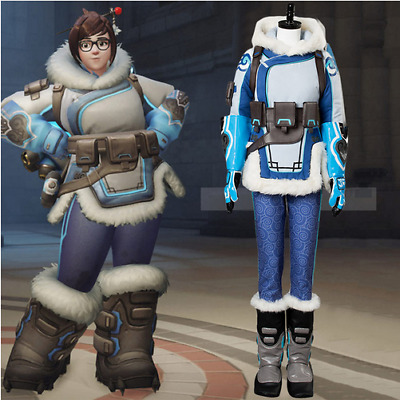 Game Overwatch OW Mei Ling Zhou Whole Set Cosplay Costume Overwatch Uniform Suit