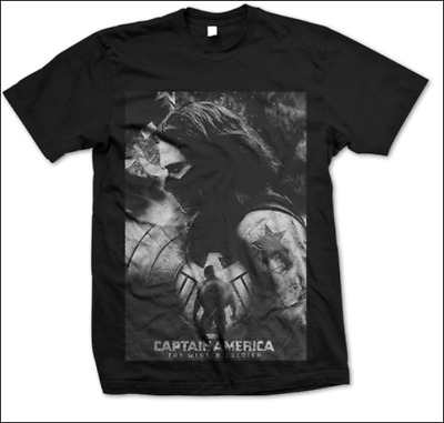 Captain America The Winter Soldier Bucky Barnes Tee T-shirt Cotton Casual Tee