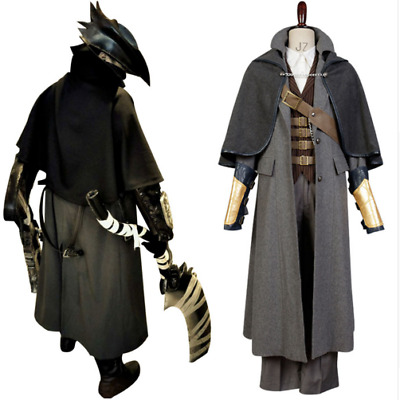 Bloodborne Cosplay Costume Outfit Full Set The Hunter Black Cosplay