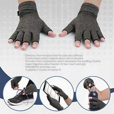 1Pair Arthritis Pressure Health Gloves Brace Hand Wrist Relief Carpal Tunnel FT