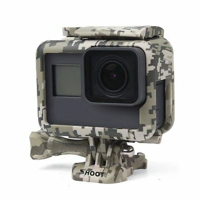 Shoot Camouflage Gray Protective Frame Mount Stand Housing Case for GoPro H U1U5