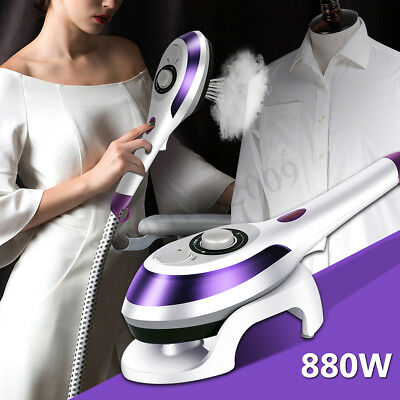 220V 880W Handheld Electric Steam Iron Fabric Clothes Garment Steamer Dry Flat