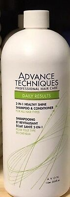 Avon ADVANCE TECHNIQUES.. 2-IN-1  HEALTHY SHINE.. SHAMPOO & CONDITIONER.