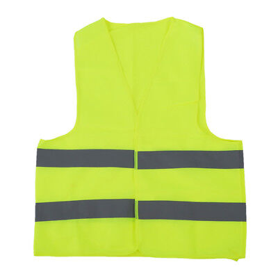 2X(Safety vest Reflecting Strips Yellow Fluorescent High Visibility H1O7)