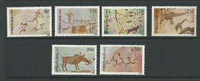 1982 Rock Paintings set 6 MUH/MNH as Issued