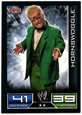 "2008 WWE TOPPS ""HORNSWOGGLE"" SLAM ATTAX WRESTLING TRADING CARD as NEW Cond"