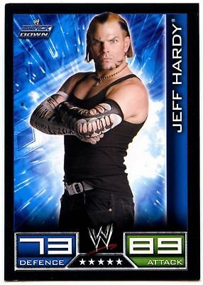 "2008 WWE TOPPS ""JEFF HARDY"" SLAM ATTAX WRESTLING TRADING CARD as NEW ]"