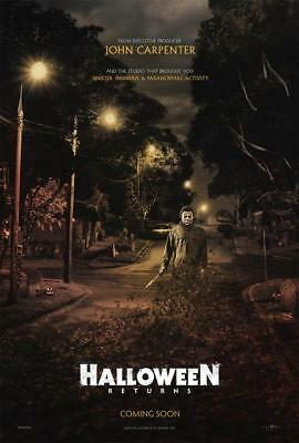 Halloween Movie Poster 24x3660x90cm Laurie Strode Horror 2018 Film