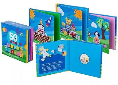 💰2016 Aust.50c-50 Years of Play School: 3 Coin Set- Jemima, Humpty & Little Ted