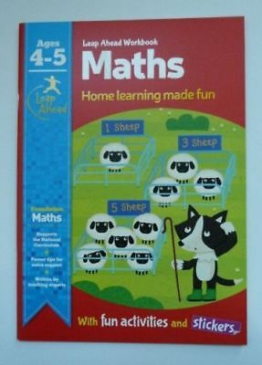 Leap Ahead Early Learning Maths Workbook Ages 4-5 Reception Year Preschool New