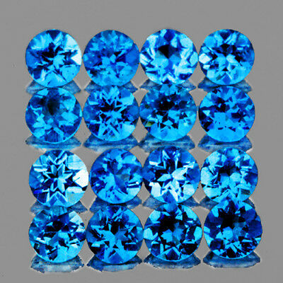 2.20 Mm 20 Pieces Round Natural Intense Aaa Ice Blue Apatite