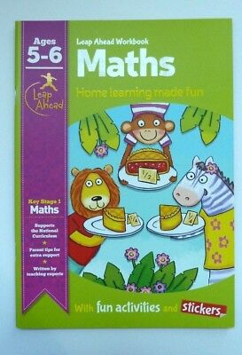 KS1 Leap Ahead Early Learning Maths Workbook With Activities & Stickers Ages 5-6