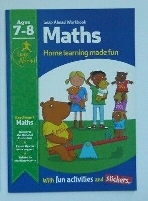 KS2 Leap Ahead Early Learning Maths Workbook With Activities & Stickers Ages 7-8