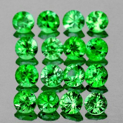 1.50 mm ROUND 55 PIECES NATURAL CHROME GREEN TSAVORITE GARNET [FLAWLESS-VVS]