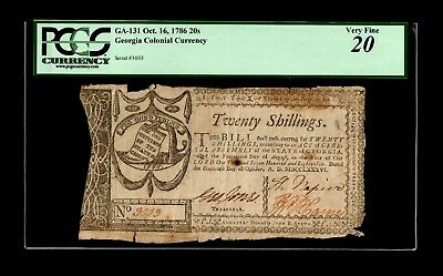 Georgia - October 16, 1786 - 20 Shillings