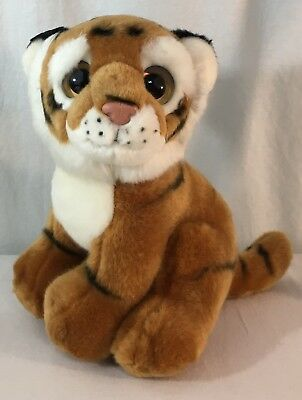 "9"" Ty Beanie Boo Big Eyes Wild Beasts Pouncer Tiger Plush 2011 Clean Pre-Owned"