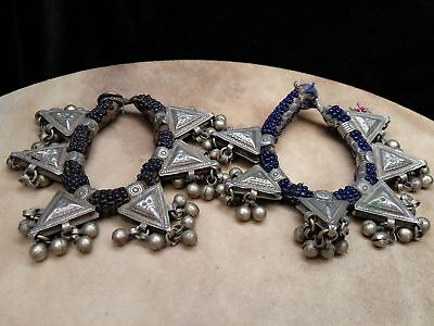 Old Tribal Anklets Vintage Baloch Ethnic Adornment Rare Pair