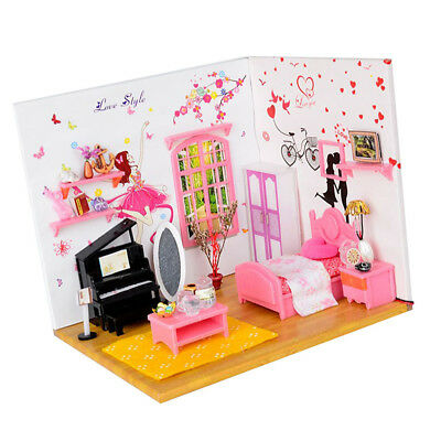 1:24 Scale DIY Miniature Dolls House Furniture Kit Girl Bedroom Xmas Gifts