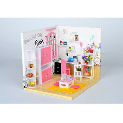 1:24 Scale DIY Miniature Dolls Study House Furniture Kit Birthday Girl Gifts