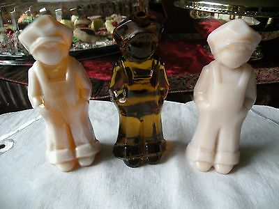 Mosser Glass Josh Figurines - Mosser Glass  Lot of 3