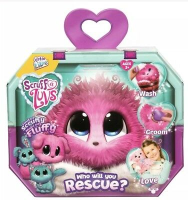 New Little Live Pets Scruff A Luvs Mystery Pet Rescue PINK Birthday Christmas
