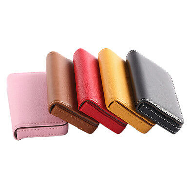 New Pocket PU Leather Business ID Credit Card Holder Case Wallet Pojg YL
