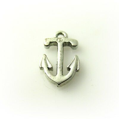 Anchor - 5 Lead Free Antique Silver Pewter Charms