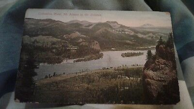 Vintage Postcard Columbia River Mt Adams