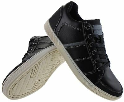 Mens Black Day Five Skate Trainers Shoes Lace Up Casual Canvas New UK Sizes  7- ddb270e600c6