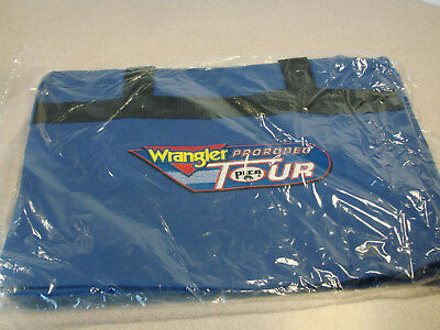 Wrangler PRCA Pro Rodeo Tour Duffel Gear Bag Blue