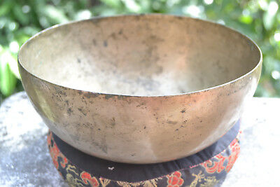 "Old Antique Tibetan Singing Bowl  7,4"" 7 metals handmade Nepal Amazing sound"