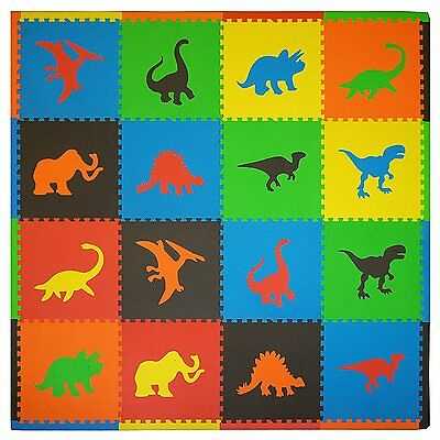 Baby Play Mat Foam Floor Dino Puzzle Activity Gym Toy 16PCS Toddler Kids Playmat