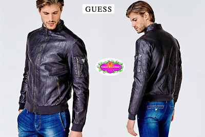 Guess Giubbotto Uomo Ecopelle Garment Dye Eco-Leather Jkt M83L13 W9Ty0 4f5a6134d24
