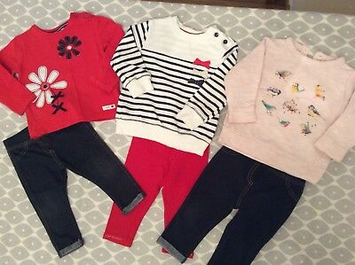 e3e4eda7fff42 MATALAN & NEXT Baby Girls White Polkadot Top & Yellow Leggings ...