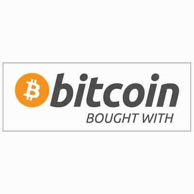 Bought With Bitcoin Sticker Vinyl Car Decal