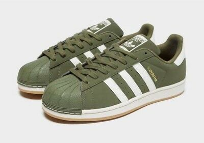 timeless design 5aa06 7ab92 Adidas Originals Superstar - Olive Green   White - Men s 7-11 EXCLUSIVE