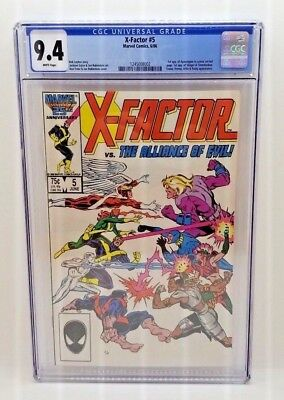 X-FACTOR 5 - CGC Grade 9.4 WP - KEY ISSUE First Appearance APOCALYPSE Marvel NM