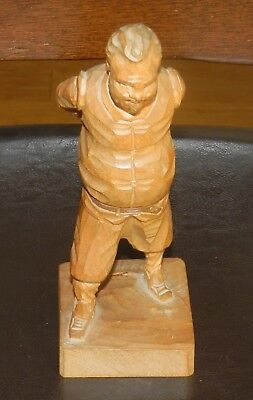 """Hand Carved 7"""" WOOD Figurine Made In Spain By Ouro  1046"""