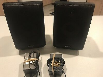 Advent Recoton Wireless 900 Mhz CLV A900R Speakers W AC Power Adapters