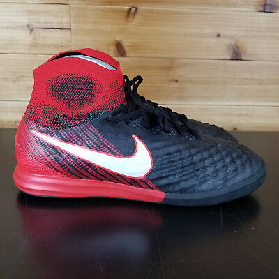 pretty nice 327ac b7bfb Nike MagistaX Proximo II IC DF Indoor Soccer 843957 061 Black White Red