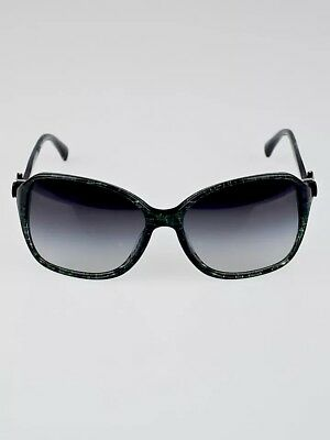 f94b2a8af516 Chanel Grey Black Shell Square Frame Bow Sunglasses-5205