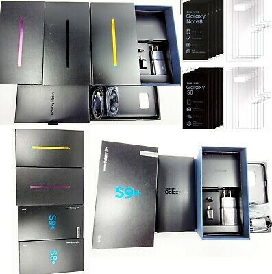 SAMSUNG GALAXY NOTE 9 Note 8 S8 S8+ S9 S9+ Empty Retail box Full Accessories