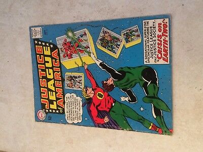 JUSTICE LEAGUE of AMERICA #22 (DC) 2nd JUSTICE SOCIETY x/over.  KEY!  Sept 1963!