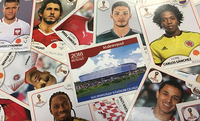 Panini Stickers - World Cup Russia 2018 - City, Stadium, Emblems, Teams, Legends