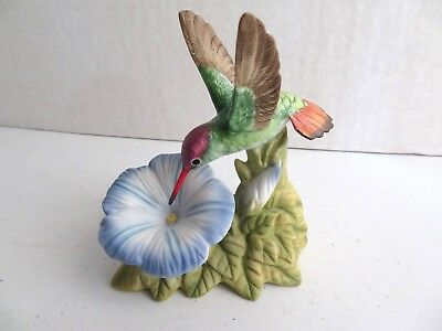 Bronson Collectibles Violet-Crowned Hummingbird with Morning Glory Figurine 1996