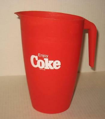 Coca Cola Logo Pitcher Red Plastic with White Enjoy Coke on sides