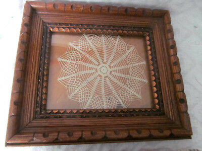 Stunning~1800s Victorian Antique Deep Shadowbox OAK Picture Frame~3 Layer Ornate