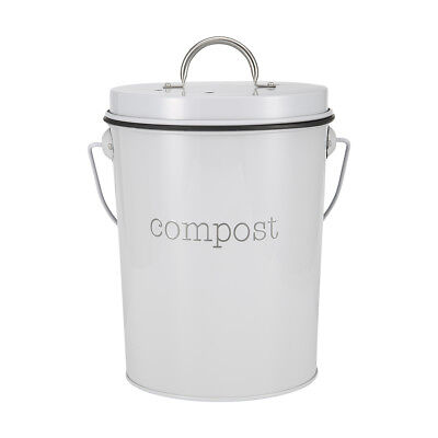 Small Metal Compost Bin Countertop Composter Food Recycling Tumbler Scrap Trash