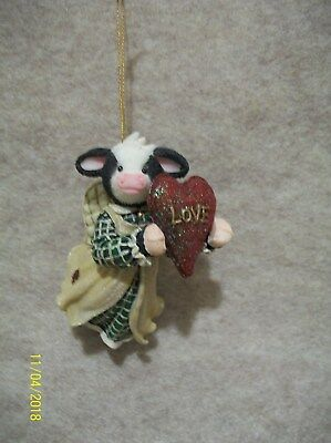 LOVE - Cow Ornament